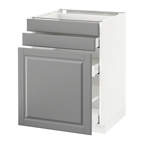 МЕТОД / МАКСИМЕРА Нплн шк с вдв мдл/2 фрнт - 60x60 см, Будбин серый, белый