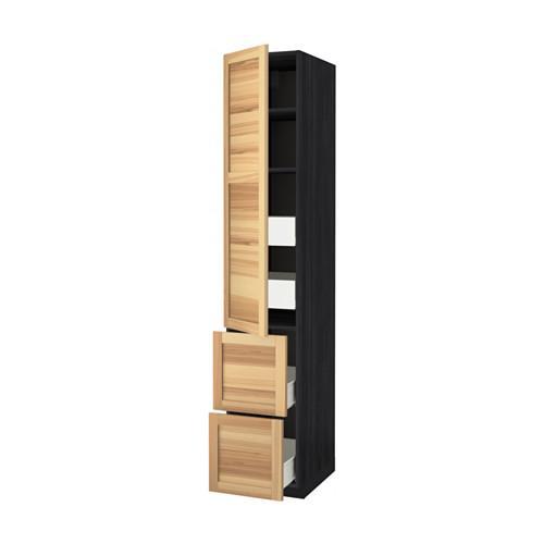 m thode forvara haute armoire tag re tiroir 4 2dvertsy bois noir torhemn fr ne. Black Bedroom Furniture Sets. Home Design Ideas