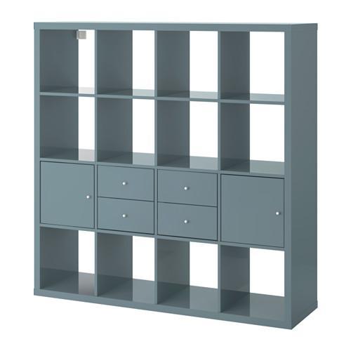 kallax gestell mit 4 eins tzen bewertungen preisvergleich. Black Bedroom Furniture Sets. Home Design Ideas