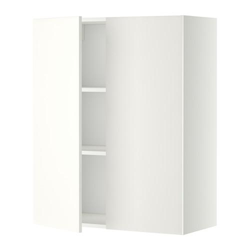 МЕТОД Навесной шкаф с полками/2дверцы - 80x100 см, Хэггеби белый, белый