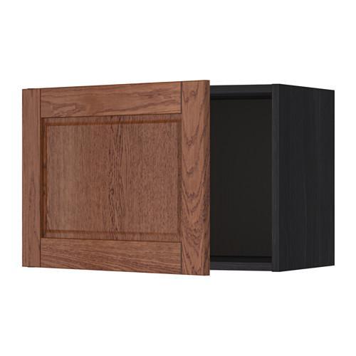 МЕТОД Шкаф навесной - 60x40 см, Филипстад коричневый, под дерево черный