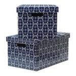 ЛИНГУ Коробка с крышкой - синий