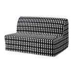 LYCKSELE HÅVET sofà llit 2-seient Ebarp negre / blanc