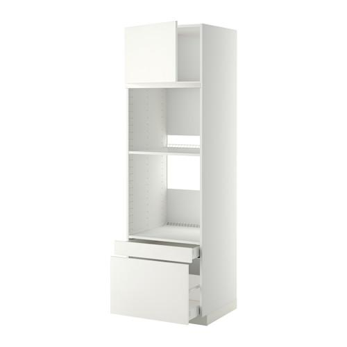 МЕТОД / МАКСИМЕРА Выс шкаф д/дхвк/комб дхвк+двр/2ящ - 60x60x200 см, Хэггеби белый, белый