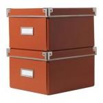 КАССЕТ Коробка с крышкой для DVD - оранжевый