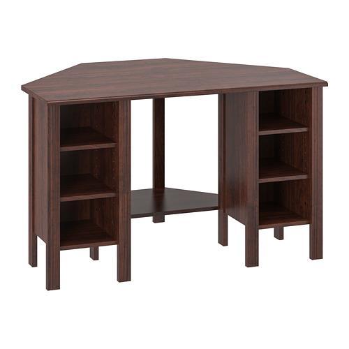 Brusali Corner Desk Brown 503 049 90 Reviews Price Where To Buy