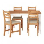 ЛЕРХАМН Стол и 4 стула