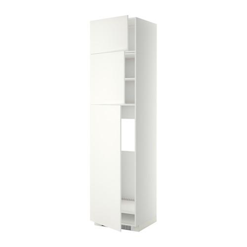МЕТОД Высокий шкаф д/холодильника/3дверцы - Хэггеби белый, белый