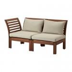 ÄPPLARÖ 2 seters modulær sofa, hagebrun / Hallo beige