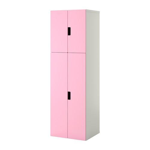 СТУВА Комбинация для хранения с дверцами - белый/розовый
