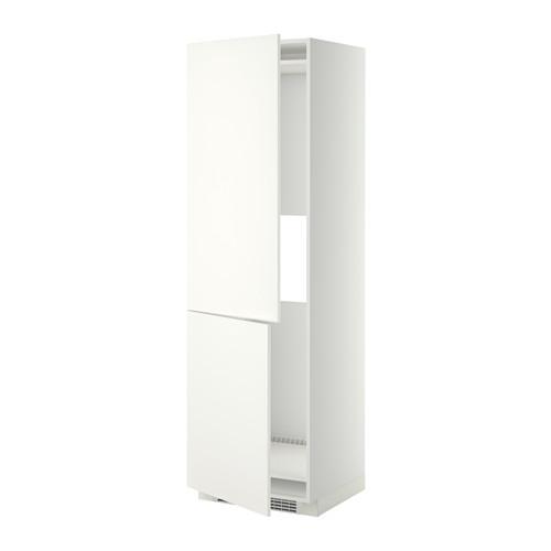 МЕТОД Выс шкаф д/холодильн или морозильн - белый, Хэггеби белый, 60x60x200 см