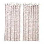 HÄSSLEKLOCKA curtains, 1 pair of white