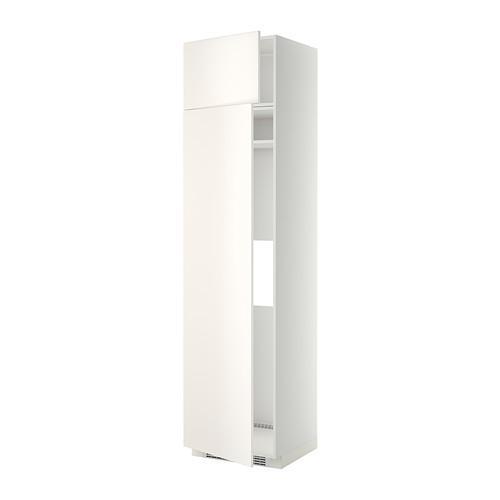 МЕТОД Выс шкаф д/холодильн или морозильн - 60x60x240 см, Веддинге белый, белый