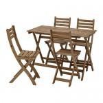 ASKHOLMEN taula + cadires 4, taca de jardí gris-d / jardí