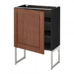 МЕТОД Напольный шкаф с полками - 60x37x60 см, Филипстад коричневый, под дерево черный