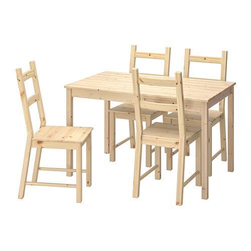 INGO / IVAR bord og 4 stol furu