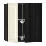 МЕТОД Угл нвсн шкф с вращающ секц - 68x80 см, Будбин белый с оттенком, под дерево черный
