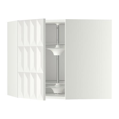 МЕТОД Угл нвсн шкф с вращающ секц - 68x60 см, Гэррестад белый, белый