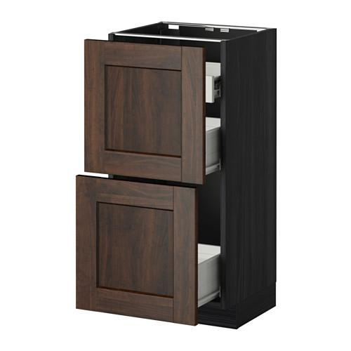 METHOD / FORVARA Napn cabinet 2 fnnt pnl / 1low / 2c box The box is black for wood, Edserm is brown for wood, cm 40xXNNX