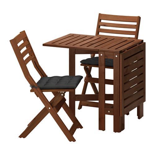 eplaro tisch 2 klappstuhl d garten eplaro brauner fleck hollo schwarz. Black Bedroom Furniture Sets. Home Design Ideas