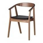 СТОКГОЛЬМ Стул с подушкой на сиденье - шпон грецкого ореха/темно-коричневый
