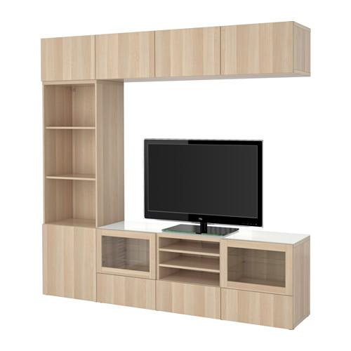 besto tv schrank kombinierte glast ren lappviken svendvik unter gebleicht eiche. Black Bedroom Furniture Sets. Home Design Ideas