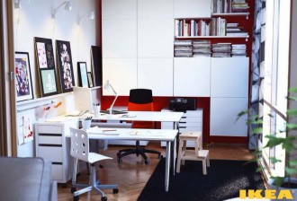Интерьер рабочего кабинета ИКЕА