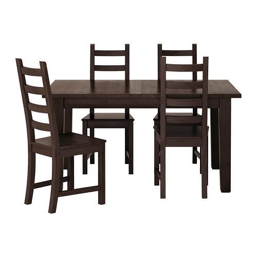 Ikea Eettafel 4 Stoelen.Kaustby Stornas Tafel En 4 Stoel Bruin Zwart 798 980 66