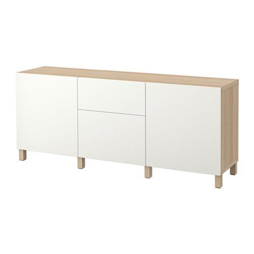 besto kombination f r die aufbewahrung mit schubladen unter gebleicht eiche lappviken wei. Black Bedroom Furniture Sets. Home Design Ideas