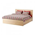МАЛЬМ Высокий каркас кровати/4 ящика - 140x200 см, Султан Лаксеби
