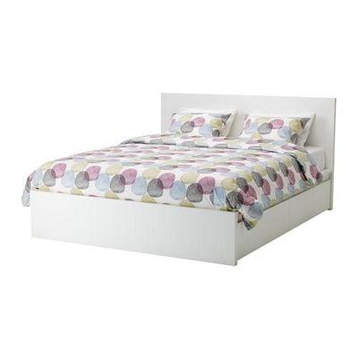 МАЛЬМ Высокий каркас кровати/4 ящика - белый, 160x200 см
