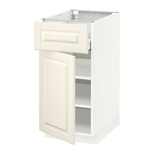МЕТОД / МАКСИМЕРА Напольный шкаф с ящиком/дверью - 40x60 см, Будбин белый с оттенком, белый