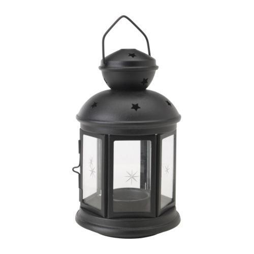 ROTERA фонарь для греющей свечи д/дома/улицы черный