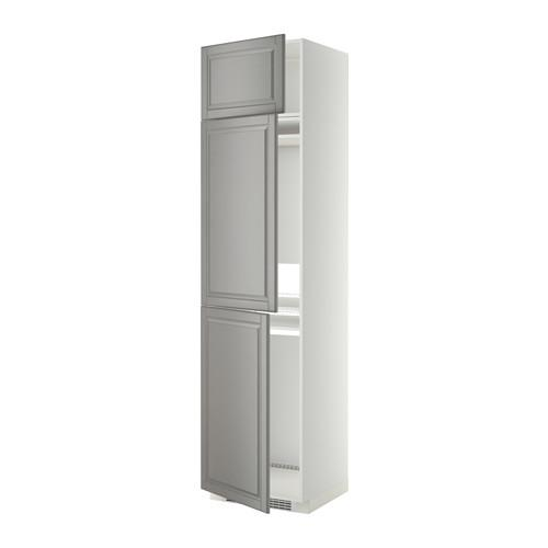 МЕТОД Выс шкаф для хол/мороз с 3 дверями - Будбин серый, белый