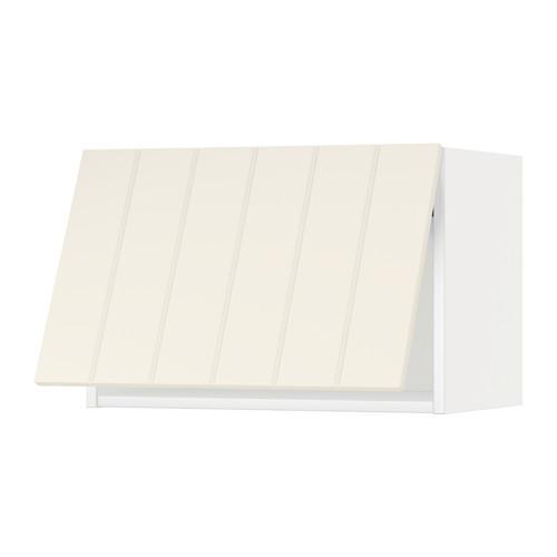 МЕТОД Горизонтальный навесной шкаф - 60x40 см, Хитарп белый с оттенком, белый