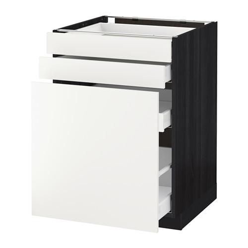 МЕТОД / МАКСИМЕРА Нплн шк с вдв мдл/2 фрнт - 60x60 см, Хэггеби белый, под дерево черный