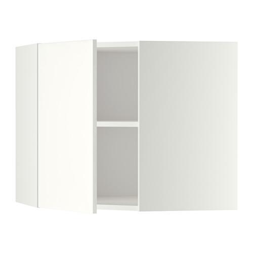МЕТОД Угловой навесной шкаф с полками - 68x60 см, Хэггеби белый, белый