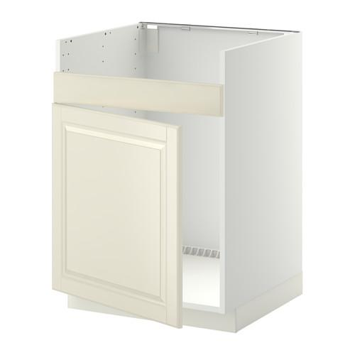МЕТОД Нплн шкаф для одинарн мойки ДУМШЁ - Будбин белый с оттенком, белый