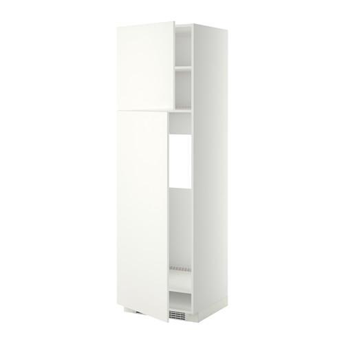 МЕТОД Высокий шкаф д/холодильника/2дверцы - 60x60x200 см, Хэггеби белый, белый