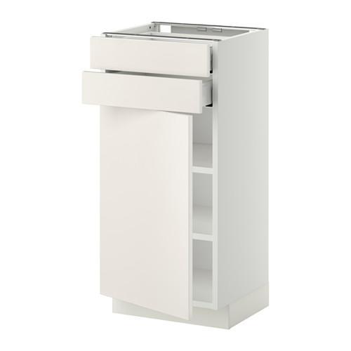 МЕТОД / МАКСИМЕРА Напольный шкаф с дверцей/2 ящиками - 40x37 см, Веддинге белый, белый