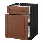 МЕТОД / МАКСИМЕРА Напольн шкаф/выдвижн секц/ящик - 60x60 см, Филипстад коричневый, под дерево черный