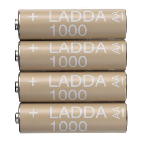 LADDA rechargeable battery white