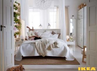 Interior of white bedroom Photo