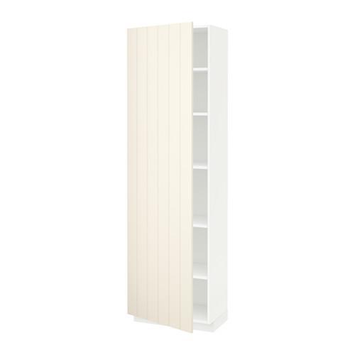 МЕТОД Высок шкаф с полками - 60x37x200 см, Хитарп белый с оттенком, белый