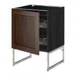 МЕТОД Напольный шкаф с проволочн ящиками - 60x60x60 см, Эдсерум под дерево коричневый, под дерево черный