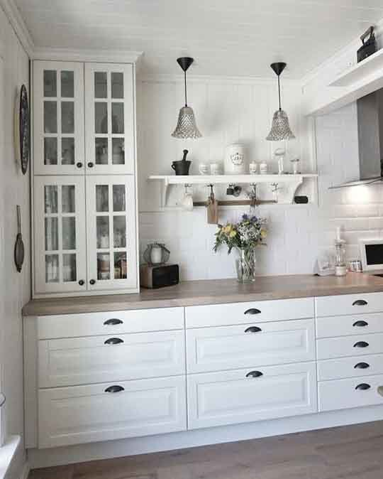Kitchen in white from IKEA