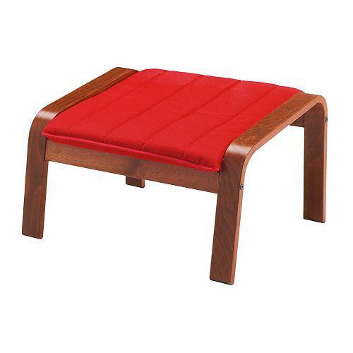 ПОЭНГ Табурет для ног - классический коричневый, Ранста красный