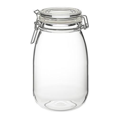 Tarro con tapa cristal transparente, corcho IKEA 403.057.87