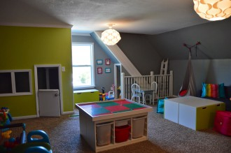 Children's room with IKEA Kallax and STUVA