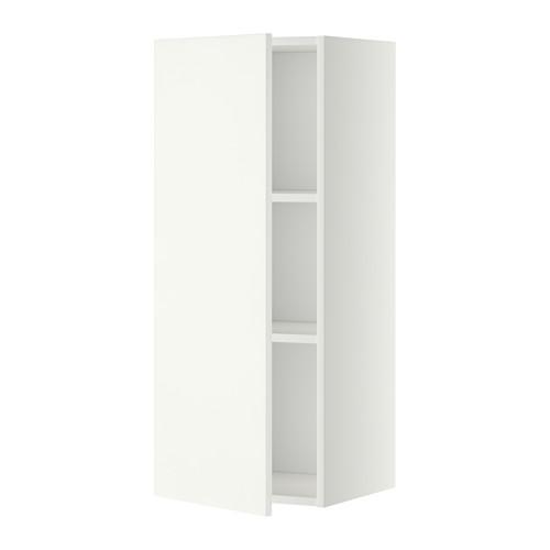 МЕТОД Шкаф навесной с полкой - 40x100 см, Хэггеби белый, белый